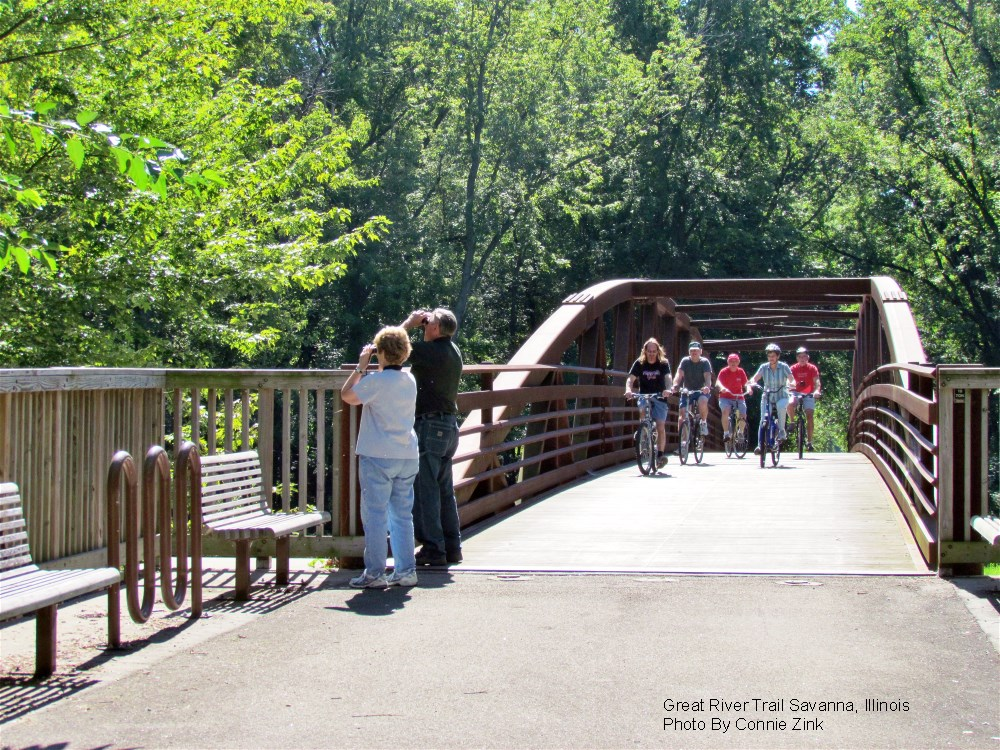 Biking and Bird-Watching on the Great River Trail