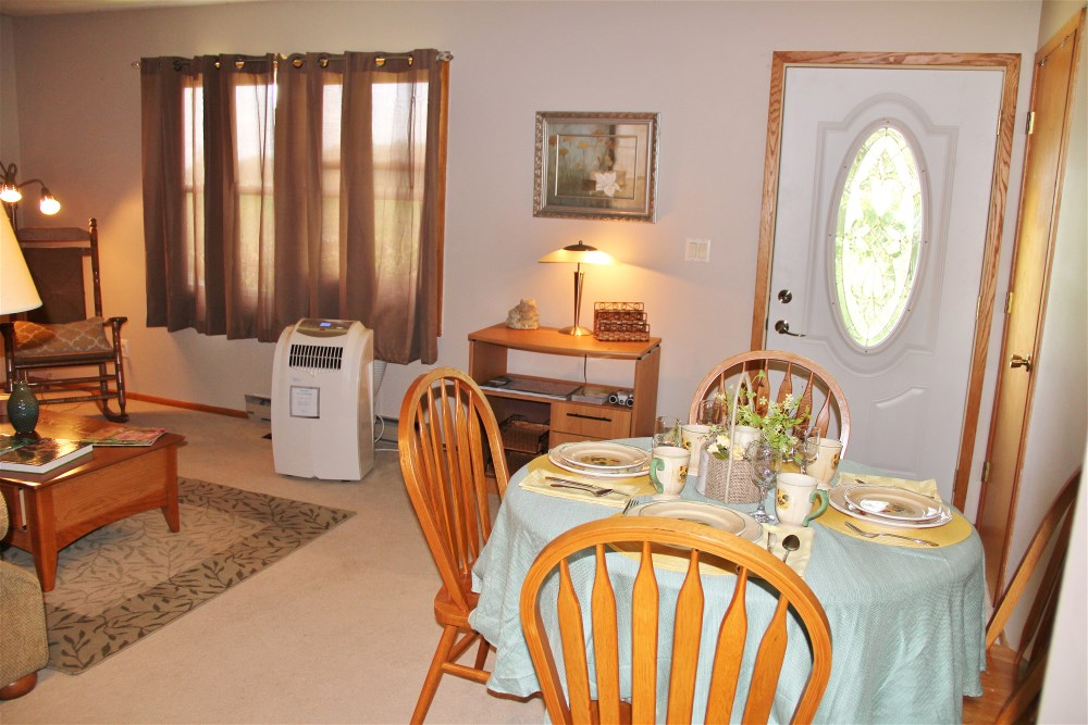 Dining Room and Lving Room at Roberts' Roost