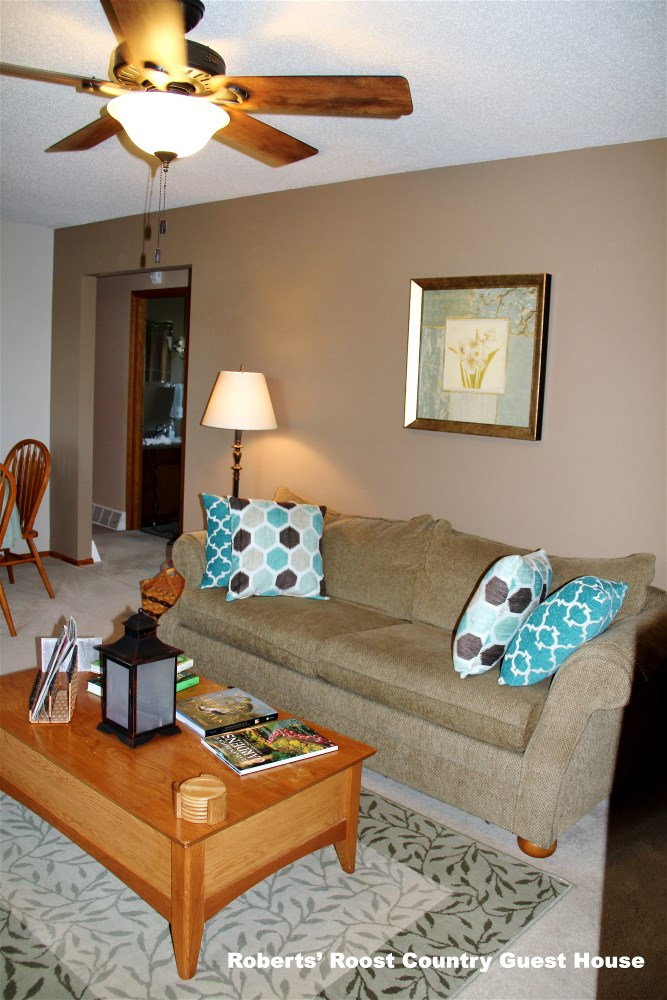 Living Room and Dining Room at Roberts' Roost