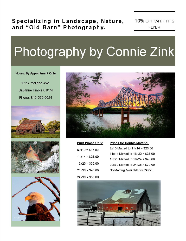 Photography by Connie Zink website